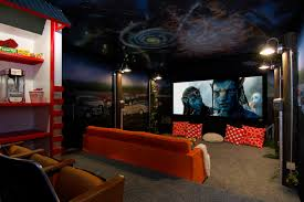 Media Rooms and Theaters eclectic-home-theater