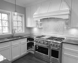 kitchen 5 78y excellent home design ceiling range hood clasic white wooden over modern stove as well diagonal wall tile