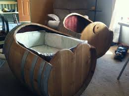 furniture made from wine barrels. baby cradle made from a wine barrel furniture crib bassinet barrels