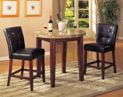 metal half round folding table and set of 2 bistro chairs