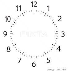 時計 数字のイラスト素材 12927979 Pixta