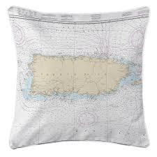 Puerto Rico Charts Pr Puerto Rico Nautical Chart Pillow