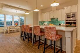 White Kitchen With Blue Tile Backsplash Nice Design