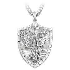 triumph of st michael pendant necklace