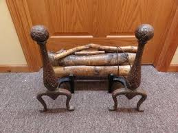 fireplace log holders vintage cast iron andirons fireplace log holders with logs fireplace log holders