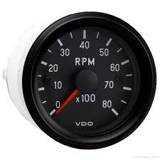 vdo vdo 2 1 16 in cockpit international 8 000 rpm tachometer 12v vdo tachometer 333 959