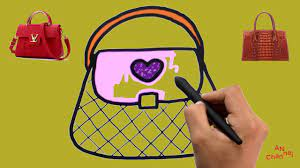 Dạy bé tập vẽ Vẽ và tô màu túi sách giúp bé mau thông minh - YouTube