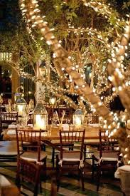 wedding lighting diy. Outdoor Wedding Lights String Around Trees At A Diy . Lighting