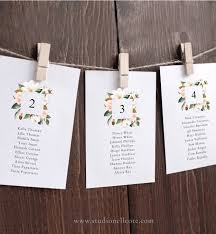 Magnolia Wedding Seating Cards Table Allocation Hanging