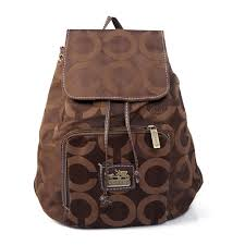 Perfect Coach Classic In Signature Medium Coffee Backpacks Ejb Sale UK gFE5t