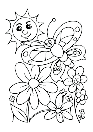 Spring Free Coloring Pages Spring Coloring Pages For Adults Nice
