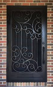 Wrought Iron Designs A Unique Wrought Iron Security Entry Door By Adoore Iron