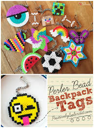 perler bead backpack tags such a great craft for kids michaelsmakers