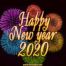 Year of the rat greeting design set. Great Colorful Fireworks Happy New Year 2020 Animated Gif Download On Funimada Com