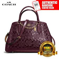 Coach F55451  NWT  Small Margot Carryall In Signature Debossed Patent  Leather- IML7C (