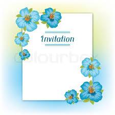 Design Of Invitation Card With Pretty Stock Vector