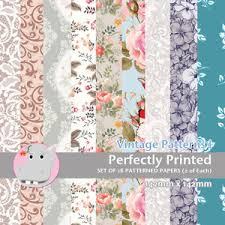 Patterned Paper Amazing 48 Patterned Paper Sq 48mm Perfectly Printed Craft Paper Vintage