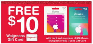 Expired Walgreens Purchase 30 50 In Itunes Giftcards Get 10