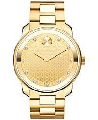 movado watches macy s movado men s swiss bold diamond 1 10 ct t w gold tone