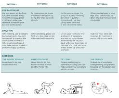 for fast relief back pain exercises chart indd