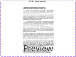 winter dreams essay homework academic service winter dreams essay a short summary of f scott fitzgerald s winter dreams this synopsis