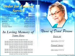 Bulletin Templates Word Memorial Card Template Word Free Funeral Program Templates Download