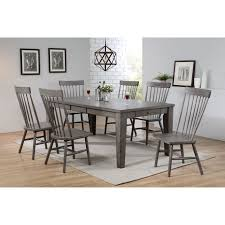 Acme 72415 Adriel Antique Gray Wood Finish 7 Piece Dining Table Set