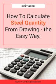 Structural Steel Unit Weight Chart How To Calculate Steel Quantity From Drawing The Easy Way