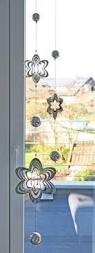 Mobile Girlande Blume Edelstahl Zwei 3d Elementen Gelasert 150 Cm