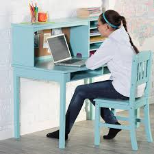 Computer Desk And Chair Amazoncom Guidecraft Media Desk Chair Set Teal Kitchen Dining