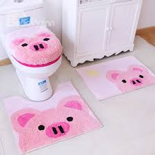 47 super lovely animals pattern 4 pieces toilet seat cover set