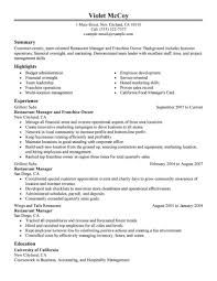 Business Owner Resume Template Professional Drawing Franchise Food