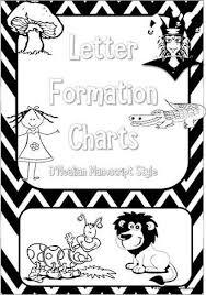 Manuscript Letter Formation Chart Kindergarten Handwriting Letter Formation Black And