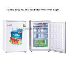Tủ đông đứng Hòa Phát Funiki HCF 116S 100 lít 4 ngăn - Giá rẻ T11/2020