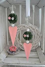 Fensterdeko Herz Rosa Glänzend Längliche Form Mit