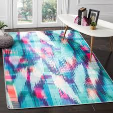 turquoise fuchsia safavieh daytona polyester area rugs day118r
