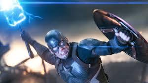 Resultado de imagem para capitão e mjolnir vs thanos