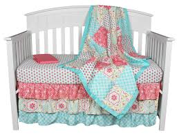 full size of gia fl c aqua 4 in 1 baby girl crib bedding collection