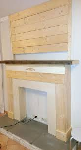 how to build electric fireplace surround how to make a faux fireplace on the build
