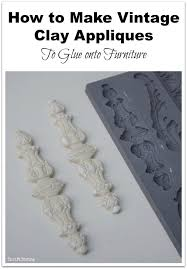 appliques for furniture. how to make vintage clay appliques glue onto furniture thrift diving for d