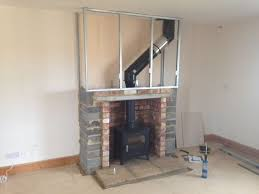 how to convert gas fireplace to wood burning stove wood stove surround ideas pellet wall on
