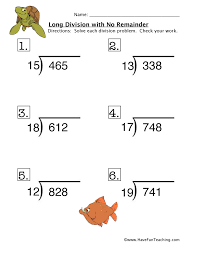 long division worksheet | Have Fun Teaching