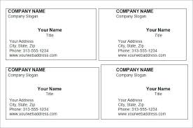 Free Printable Business Card Templates Microsoft Word Word Business