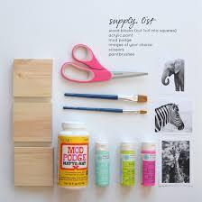 diy painted wood block nursery art on aliceandlois com