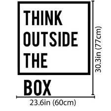 outside the box office. Plain Outside Inspirational Motivational Office Decoration Think Outside The Box Quotes  Wall Decal Art Decor Home Stickers D706in From  To S