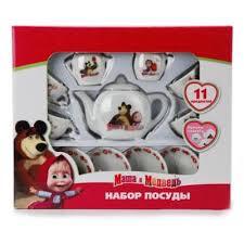 <b>Игровой набор</b> керамической посуды <b>Маша и</b> Медведь (11 ...