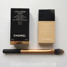 chanel vitalumiere aqua. chanel vitalumiere aqua b30 with real techniques perfecting foundation brush