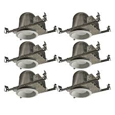 Led New Construction Recessed Lighting Utilitech Aluminum 6 In New Construction Recessed Light Kit