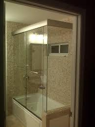 bathtub shower enclosures modern frameless doors the home depot popular of regarding 10