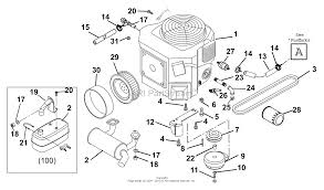 gravely 992100 000101 zt1844xl 18hp kohler 44 deck parts engine and clutch diagram gif
